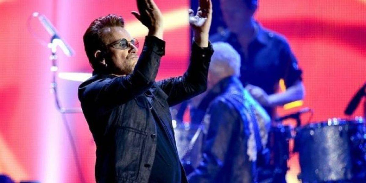 U2 contra Donald Trump durante su presentación en Las Vegas