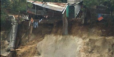 Se registra derrumbe y afecta a una vivienda de la zona 8 de Mixco