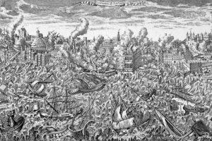 Foto:Ni siquiera con el terremoto de Lisboa en el siglo XVIII. No hubo una Luna Negra de antesala.