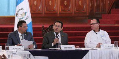 Presidente Jimmy Morales dirige un gabinete, pero guarda silencio con la prensa