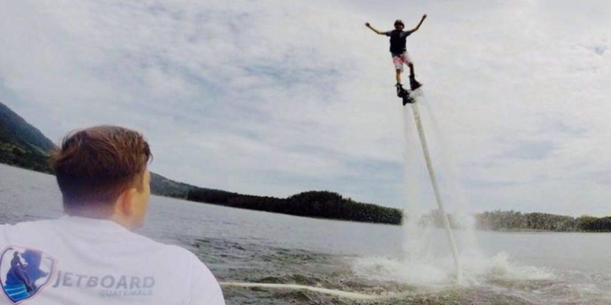 ¿Te gustaría volar sobre el agua? Ya puedes hacerlo en Guatemala