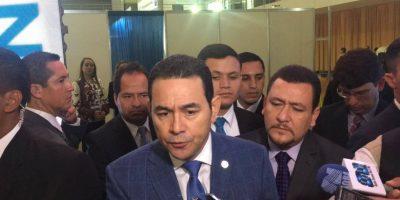 """""""No estamos en ninguna crisis"""" asegura presidente Jimmy Morales"""