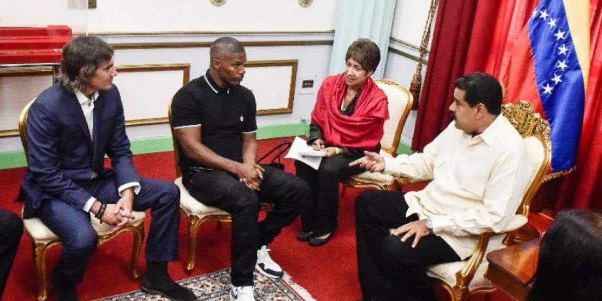 Actores Jamie Foxx y Lukas Haas se reunieron con presidente Nicolás Maduro