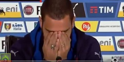 VIDEO. Famoso futbolista italiano se quiebra cuando habla de su hijo enfermo