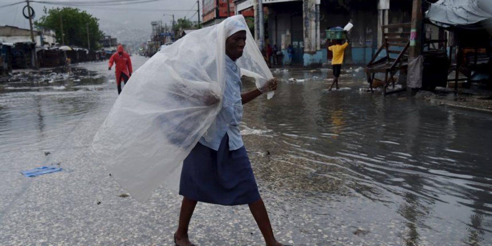 """AFP Foto:""""Puerto Príncipe, Haití, 4 de octubre"""""""