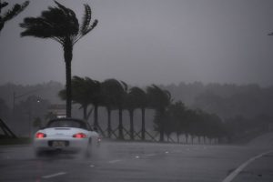 AFP Foto: Atlantic Beach, Florida, 7 de octubre.