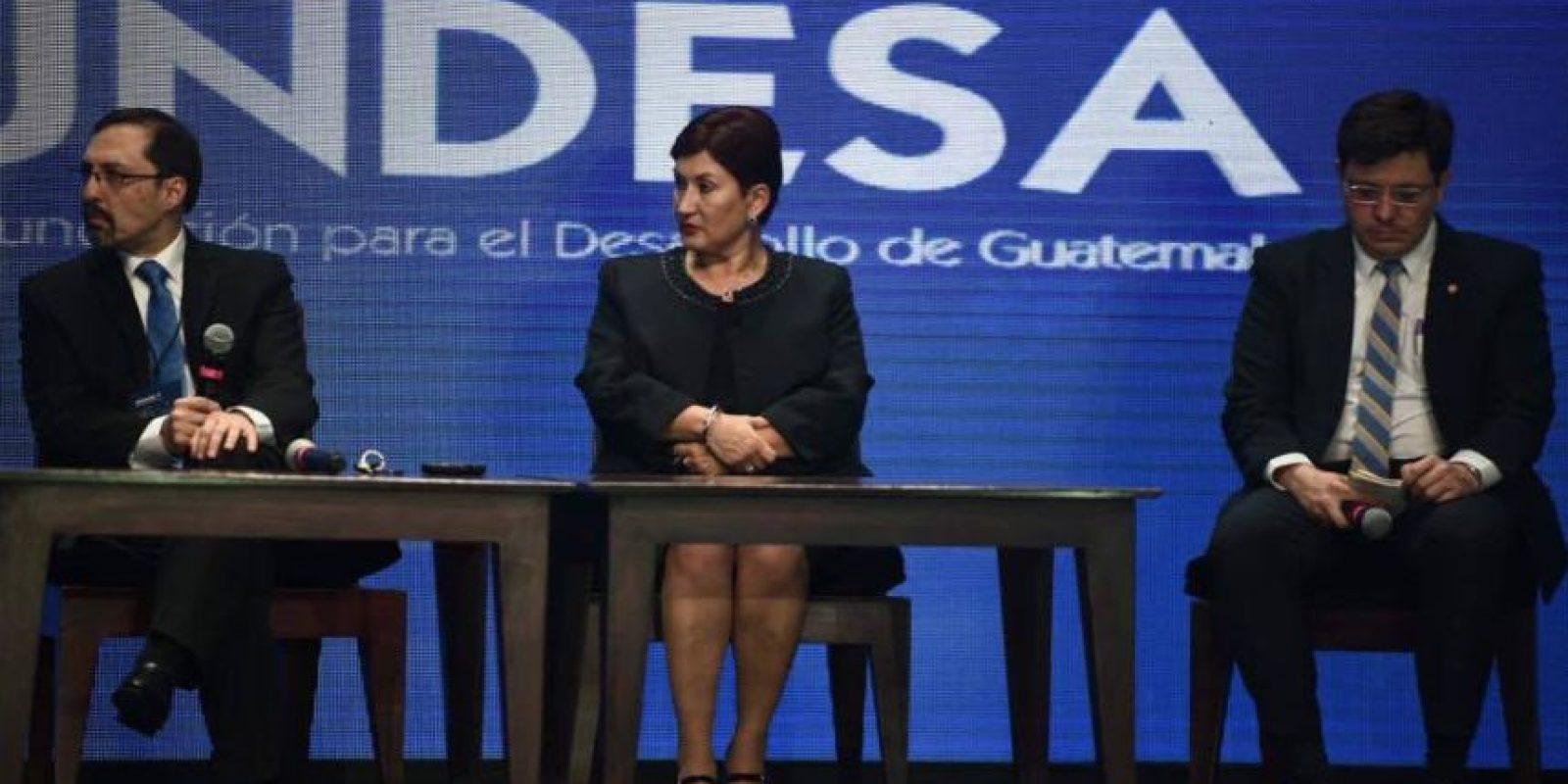 La fiscal general Thelma Aldana participa en el Enade Foto:Oliver de Ros
