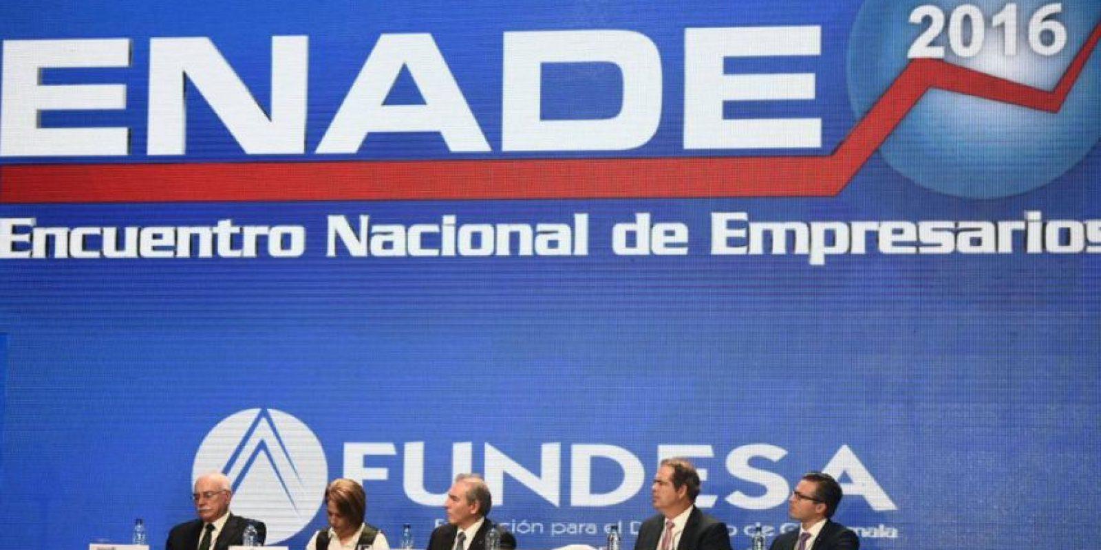 Integrantes de Fundesa inauguran el Enade Foto:Oliver de Ros
