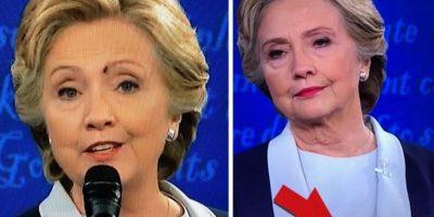 Una mosca se le paró en la cara a Hillary Clinton en el debate