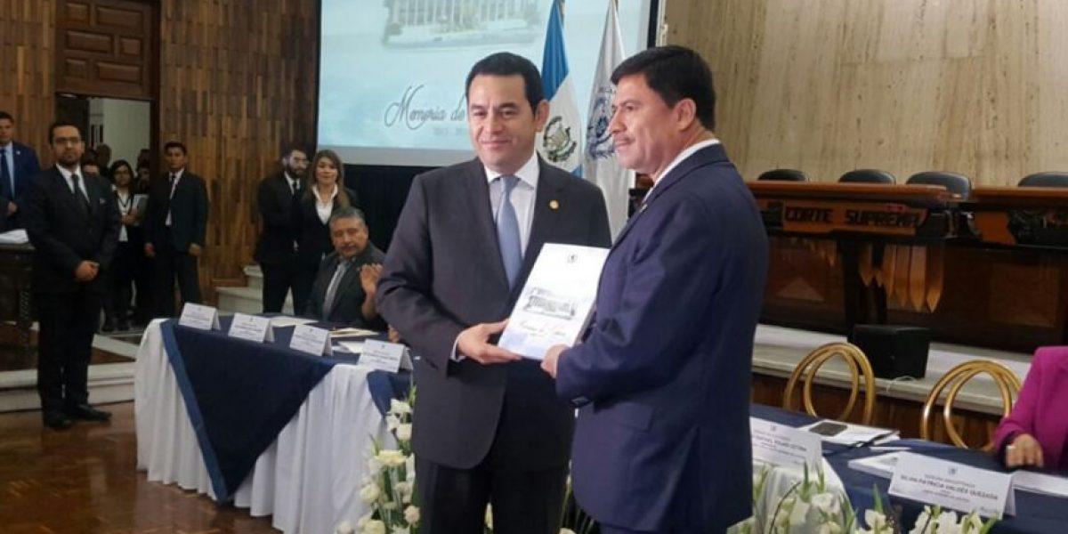 Magistrado Rafael Rojas presenta memoria de labores como presidente del OJ