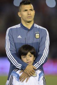 AFP Foto:Benjamín es hijo del matrimonio que tuvieron Sergio Agüero y Giannina Maradona.