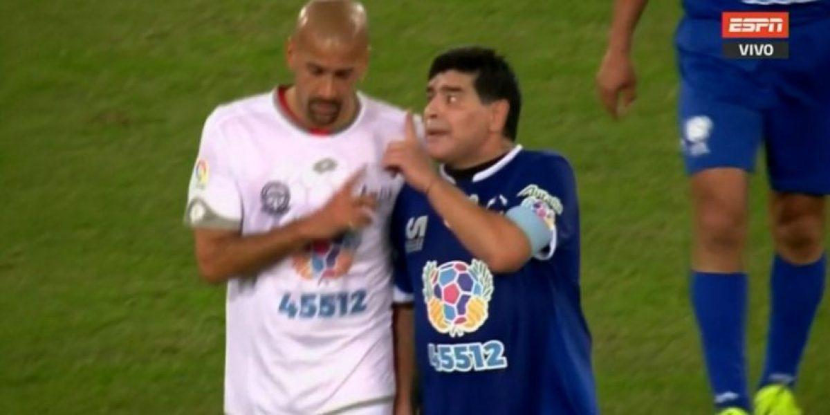 Diego Maradona y Juan Verón se pelean en