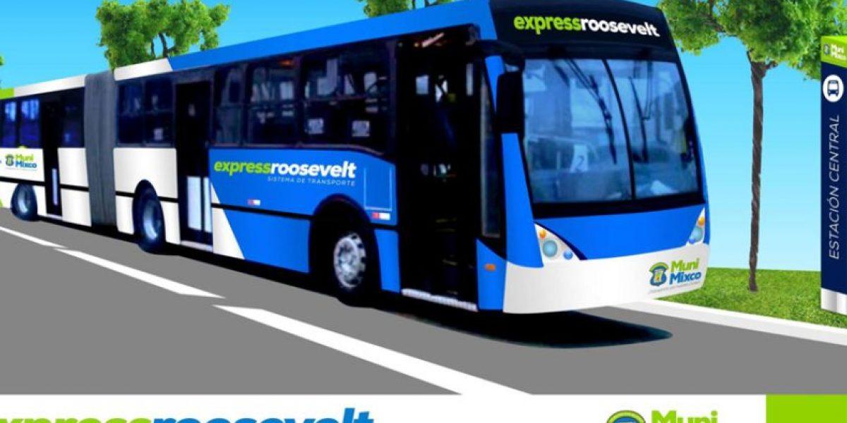 Alcalde de Mixco presenta anteproyecto del sistema de transporte Express Roosevelt