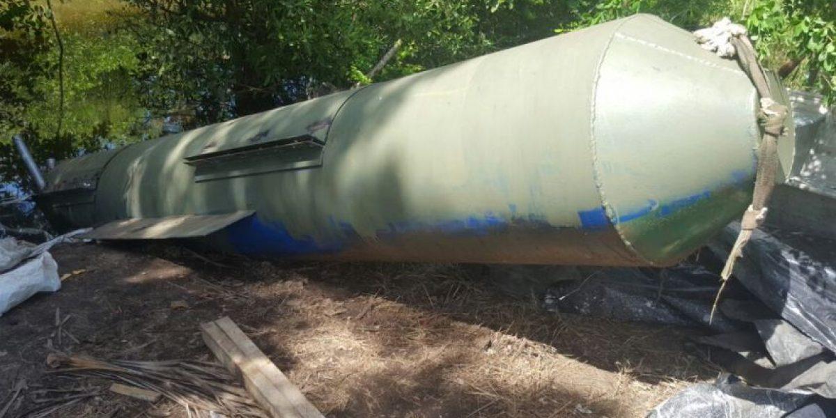 Autoridades antinarcóticos localizan un submarino artesanal con capacidad para trasladar una tonelada de cocaína