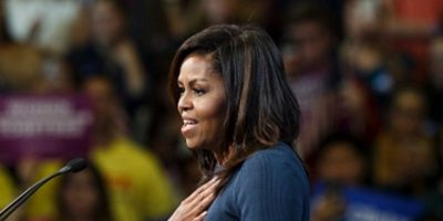 "Michelle Obama llama ""depredador sexual"" a Trump"