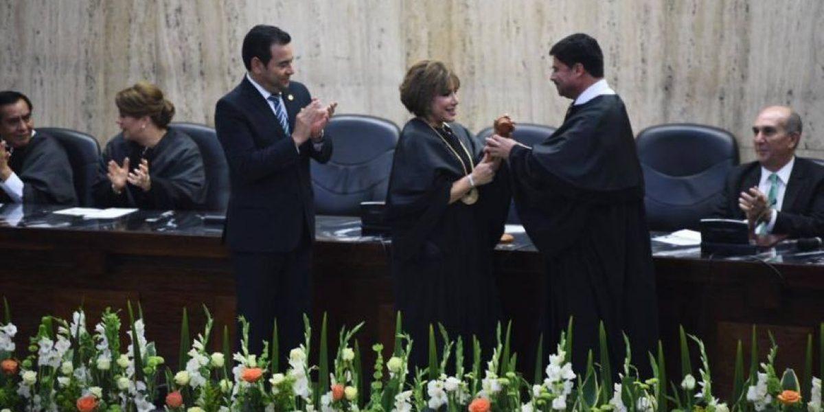 """Magistrada Silvia Valdés, la nueva presidenta de la Corte Suprema de Justicia promete """"no defraudar"""""""