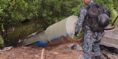 El submarino artesanal que localizó la Policía en Guatemala era dirigido vía satélite