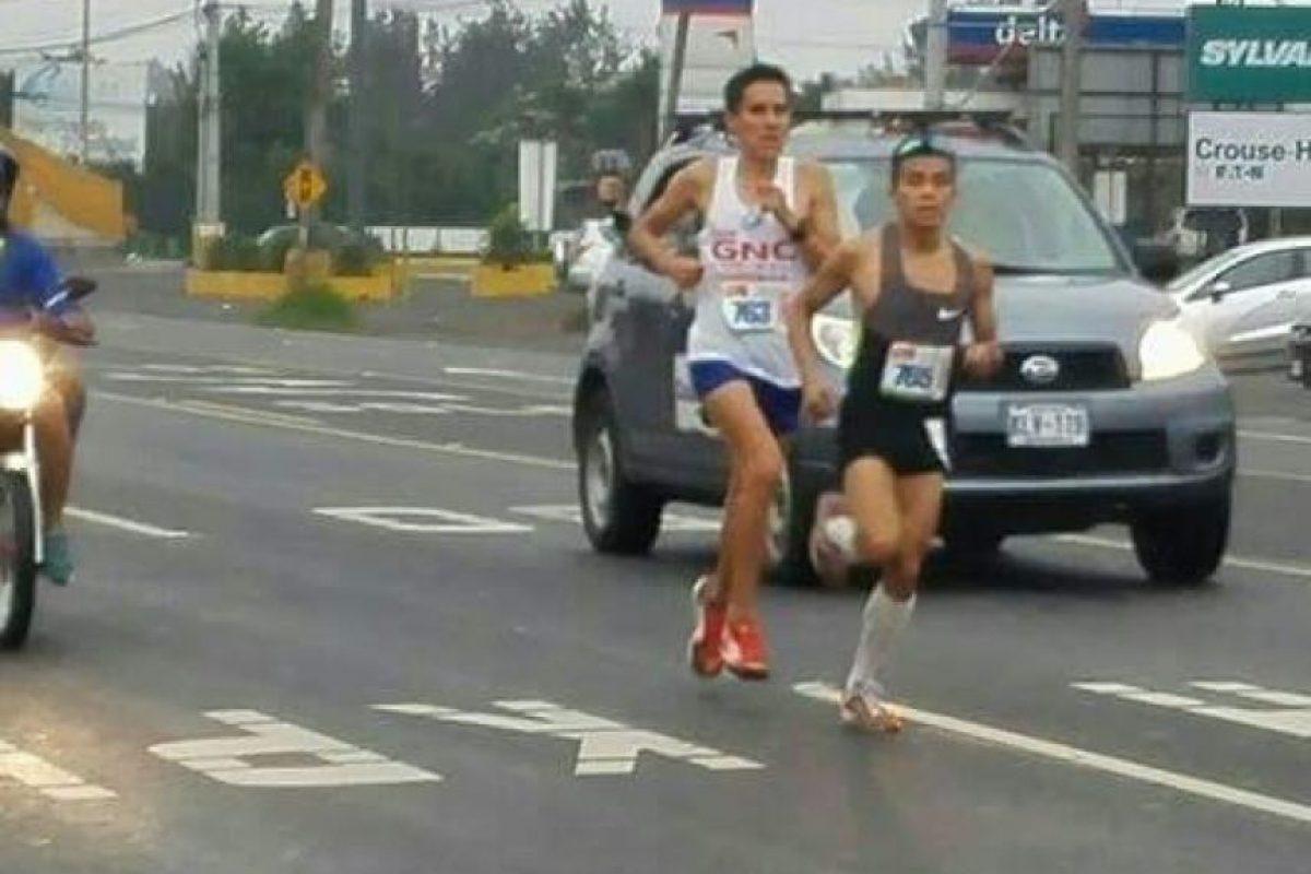 El marquense Luis Carlos Rivero tuvo un gran día en Costa Rica. Foto:Run502, Run 506, Grupo Publicitario Costa Rica y