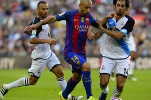 Javier Mascherano será jugador del cuadro azulgrana hasta junio de 2019. Foto:AFP