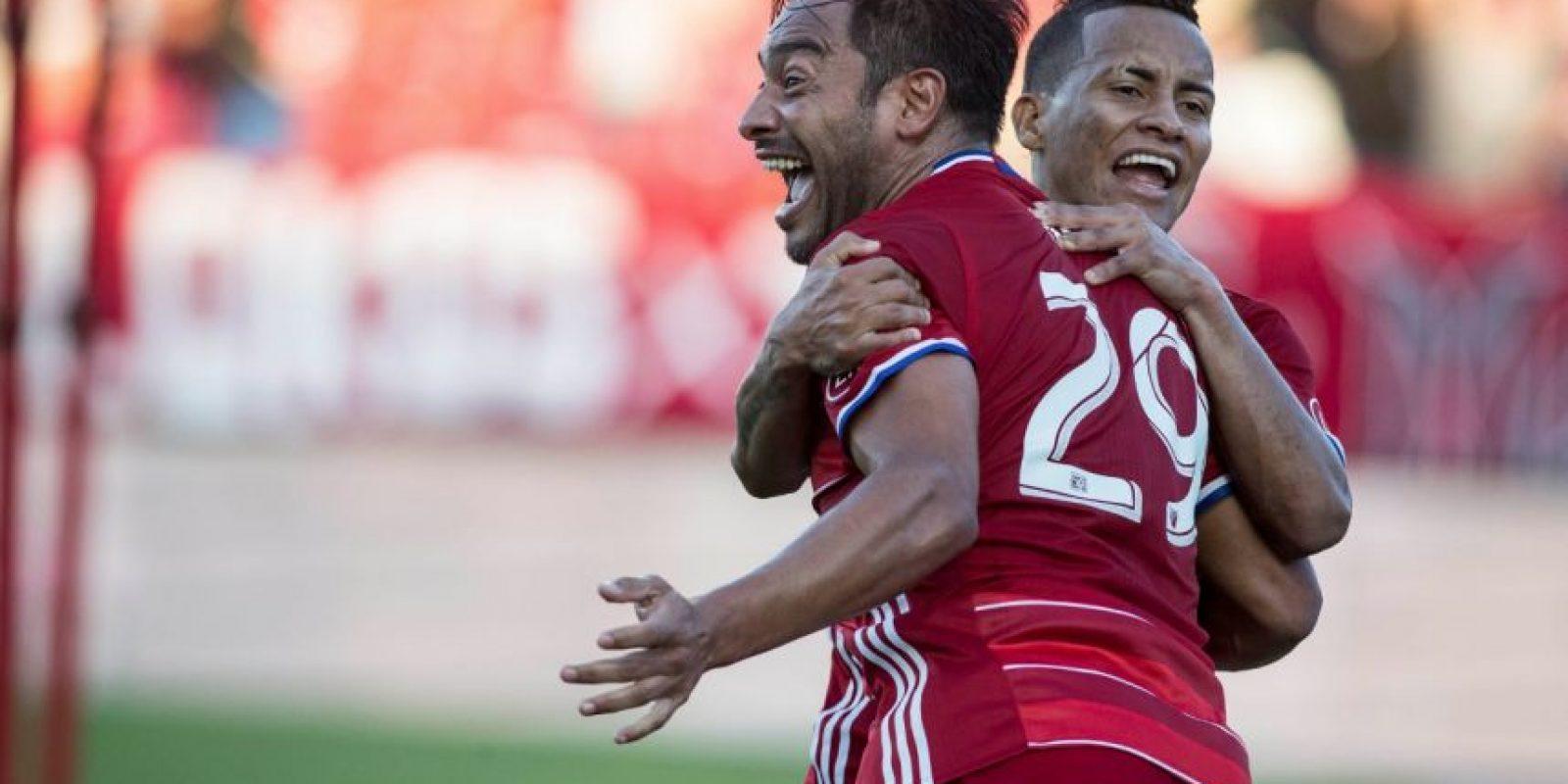 Carlos Ruiz apareció en el momento oportuno para el FC Dallas en la victoria contra los Sounders. Foto:FC Dallas