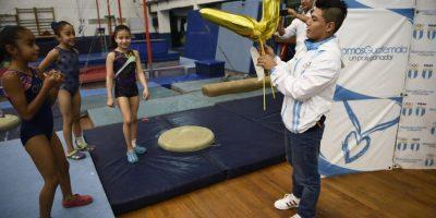 El gimnasta alcanzó en Hungría uno de los logros más importantes de su carrera. Foto:Oliver de Ros