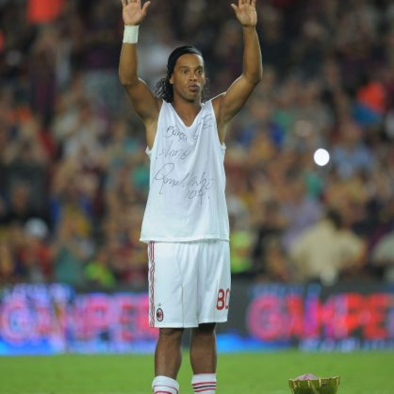 Getty Images Foto: Ronaldinho en su vuelta al Camp Nou