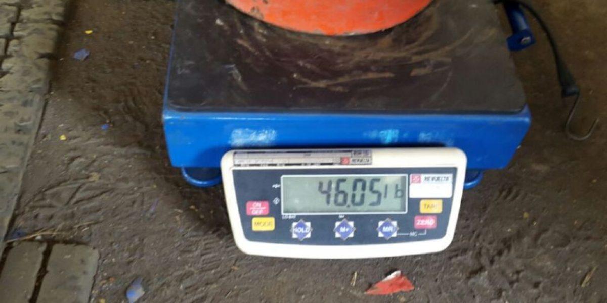 ¿Cuántos cilindros de gas propano fueron localizados con menor peso del requerido?
