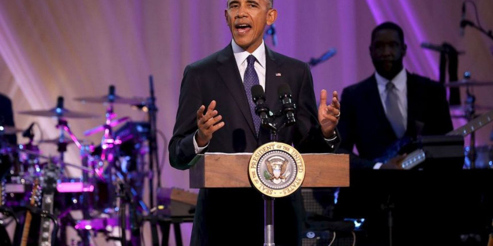 """Getty Images Foto:Barack Obama fue anfitrión del 'Love and Happiness: A Musical Experience"""""""