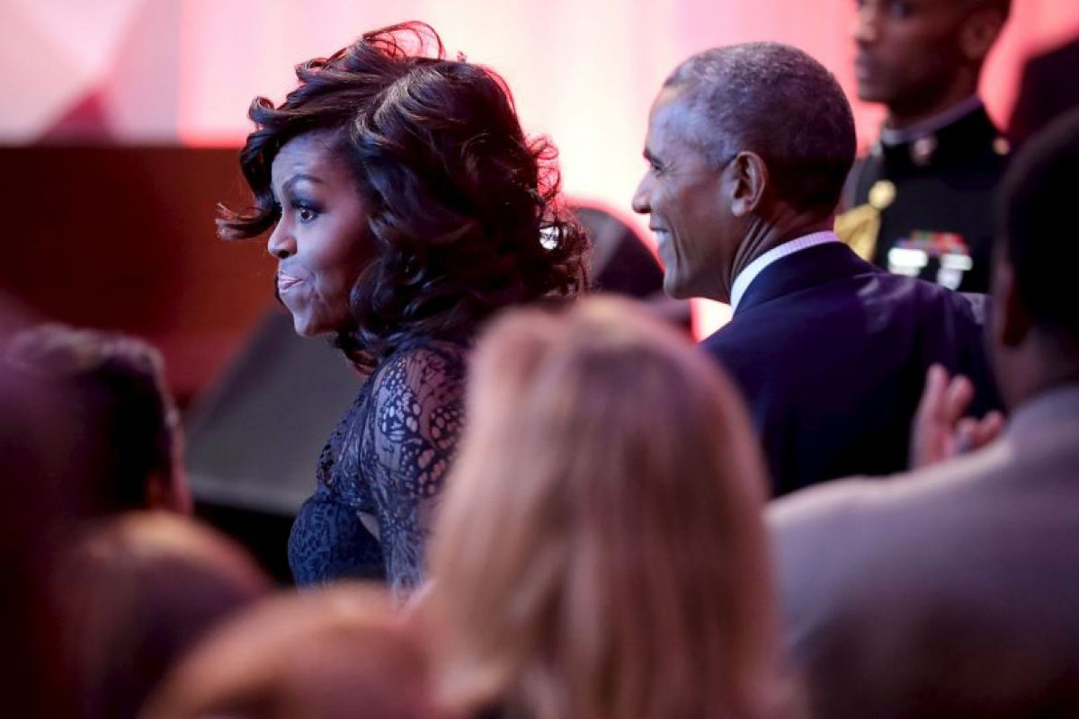 Foto:También estuvo Michelle Obama, pero al parecer, ella no se quedó en la fiesta