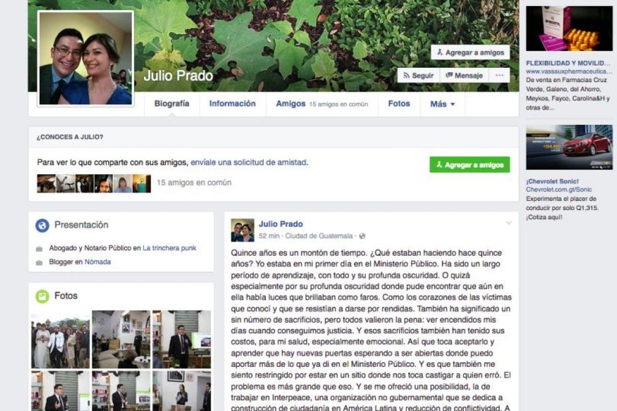 La renuncia Foto:Facebook