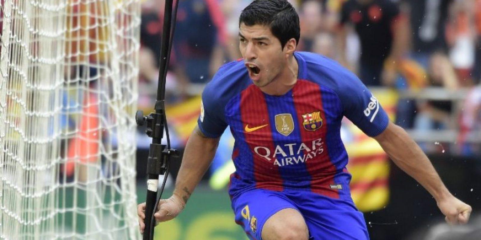 "Luis Suárez se llevó el ""Liga World Player"". Foto:AFP"