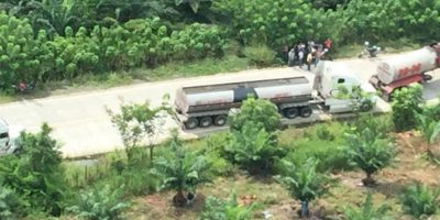Agentes de la PNC resultan heridos en desalojo en Izabal