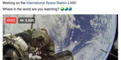 """Facebook Foto:En algunas páginas se anunciaron como """"la primera transmisión en Facebook desde el espacio"""""""