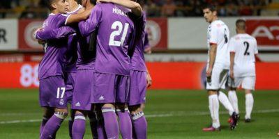 El Real Madrid golea en su regreso a la Copa del Rey