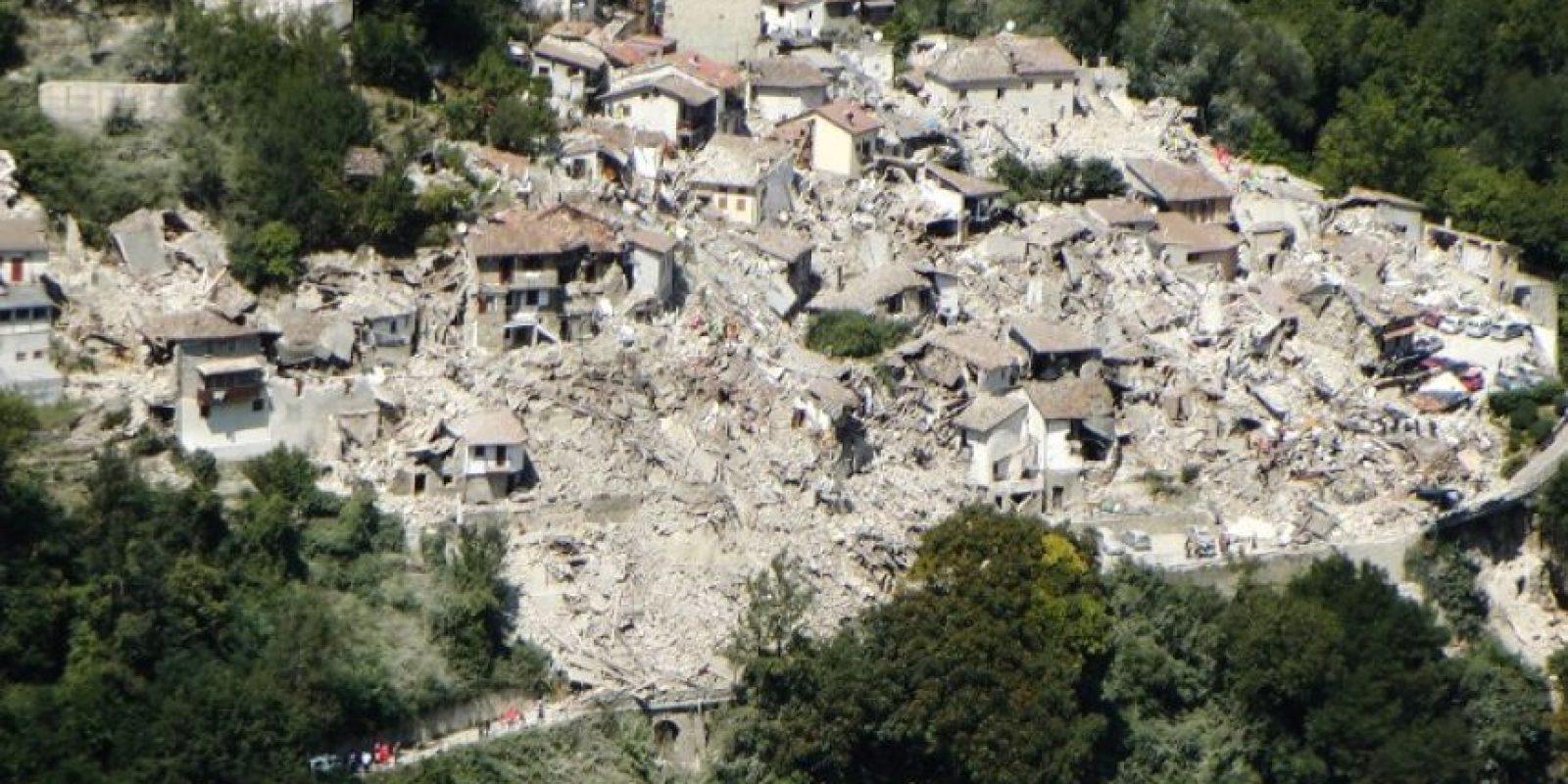 Imágenes de un terremoto ocurrido en agosto, en Italia. Foto:AFP