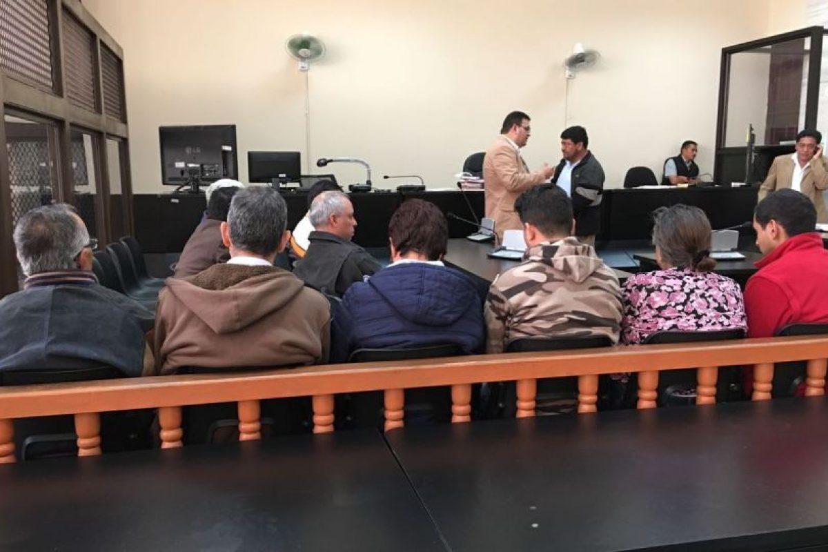 Audiencia a 12 detenidos. Foto:Kenneth Monzón
