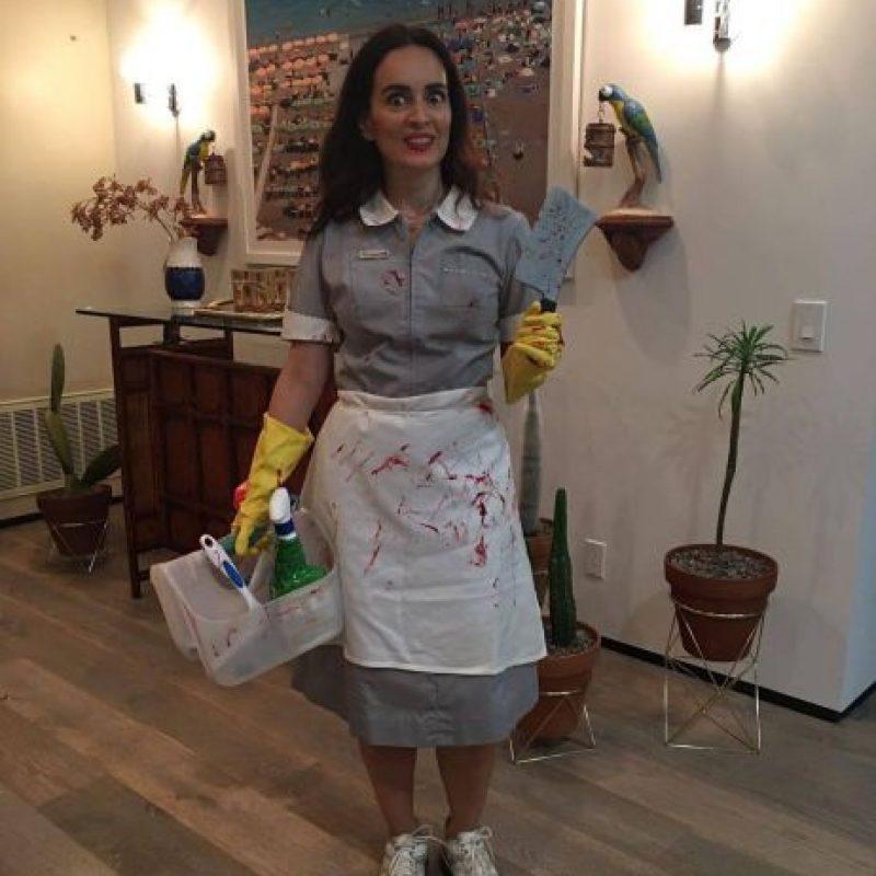 """Foto:Ana de la Reguera tituló a su disfraz """"Miss Housekeepiiiiiiing"""" y se lo dedicó a Trump"""