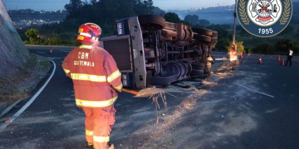 Tres vehículos de carga protagonizan dos accidentes