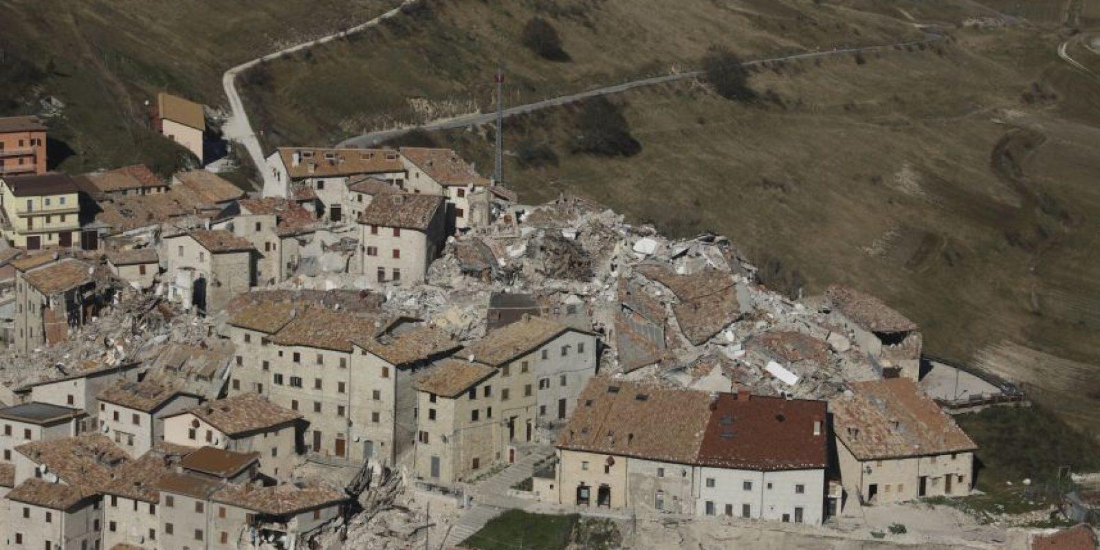 AFP Foto:Así quedó el pueblo de Castelluccio