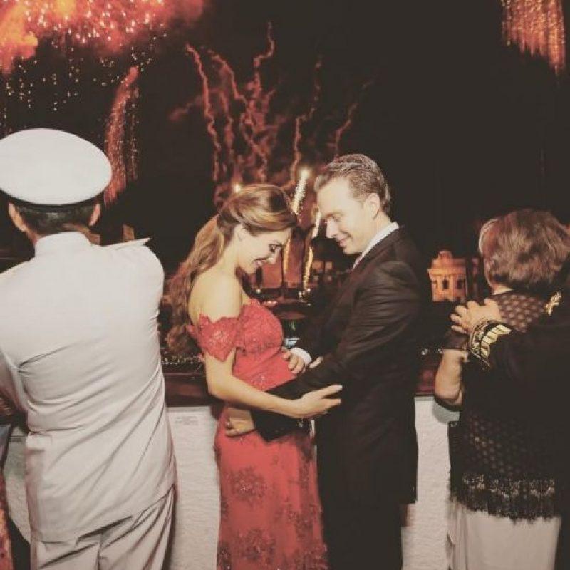 Instagram Foto:Así lució la pareja cuando informaron que Anahí estaba embarazada