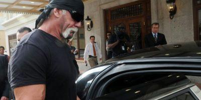 El luchador estadounidense Terry Bollea, conocido como Hulk Hogan, tras una rueda de prensa en Tampa, en Estados Unidos, el 14 de octubre de 2012 Foto:Gerraro Mora/afp.com