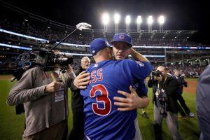 Los Cachorros celebraron en el Progresive Field de Cleveland el tercer título en su historia. Foto:AFP