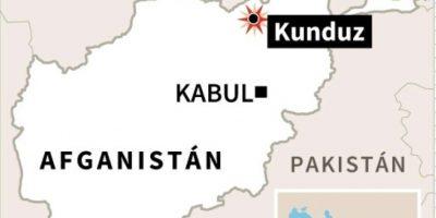 Localización de Kunduz, en Afganistán Foto:AFP /afp.com