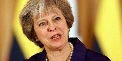 La primera ministra británica, Theresa May, ante la prensa en su residencia oficial, el número 10 de Downing Street, en Londres, el 2 de noviembre de 2016 Foto:Kirsty Wigglesworth/afp.com