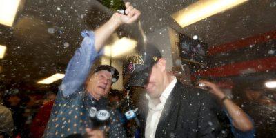 Getty Images Foto:Bill Murray fue bañado en champaña