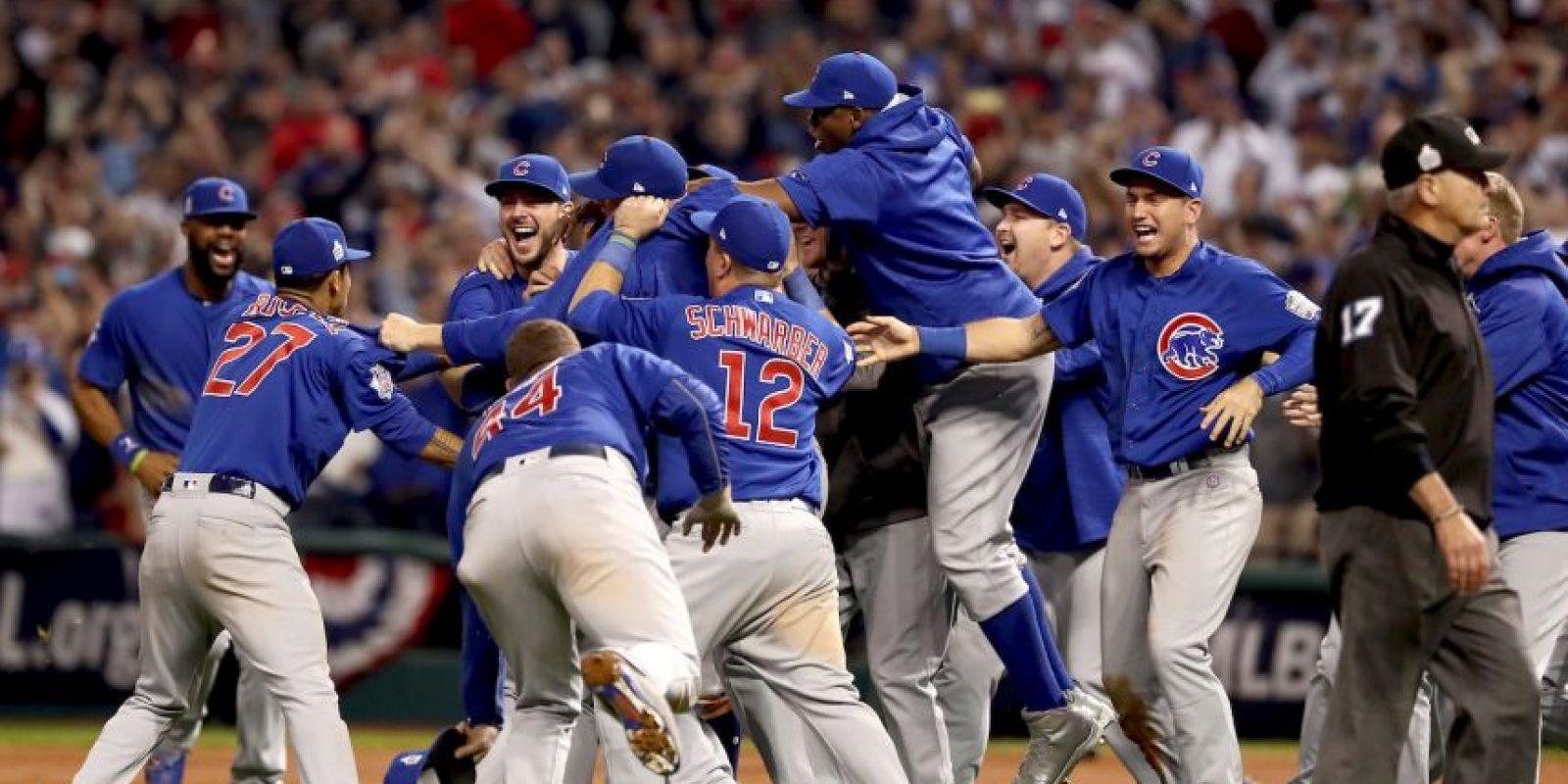 Getty Images Foto:Chicago Cubs venció a Cleveland Indians y ganó la Serie Mundial
