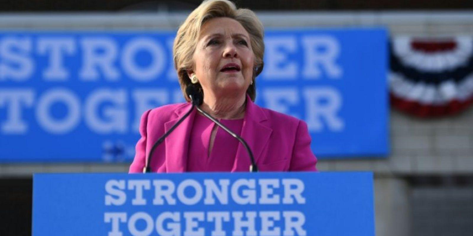 La candidata demócrata Hillary Clinton durante un acto de campaña el 3 de noviembre de 2016 en Winterville Foto:Jewel Samad/afp.com