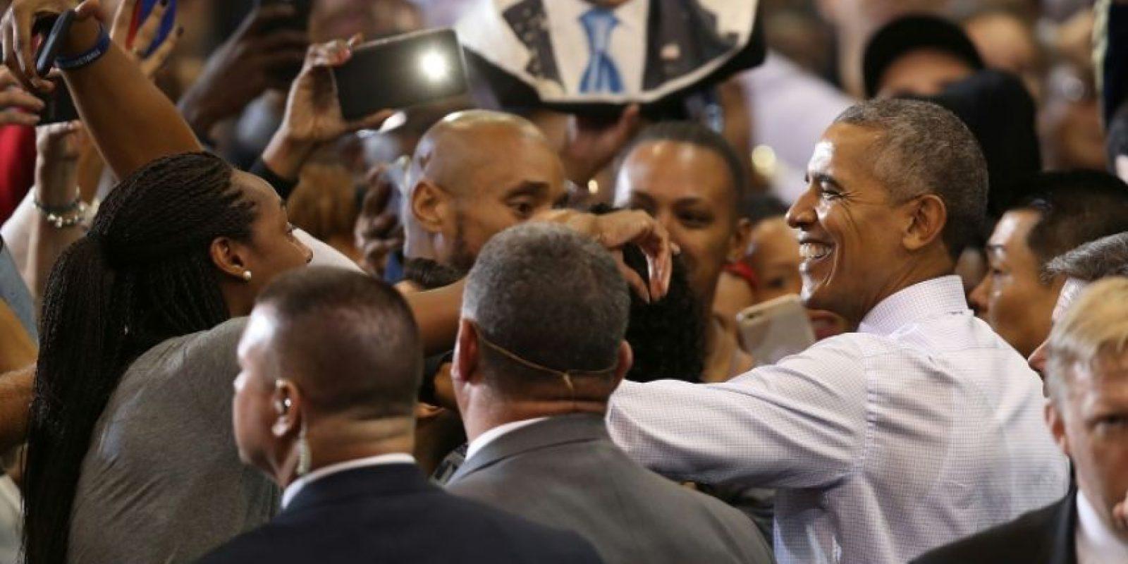 El presidente Barack Obama durante un acto de campaña en apoyo a Hillary Clinton el 3 de noviembre de 2016 en Miami Foto:Joe Raedle/afp.com