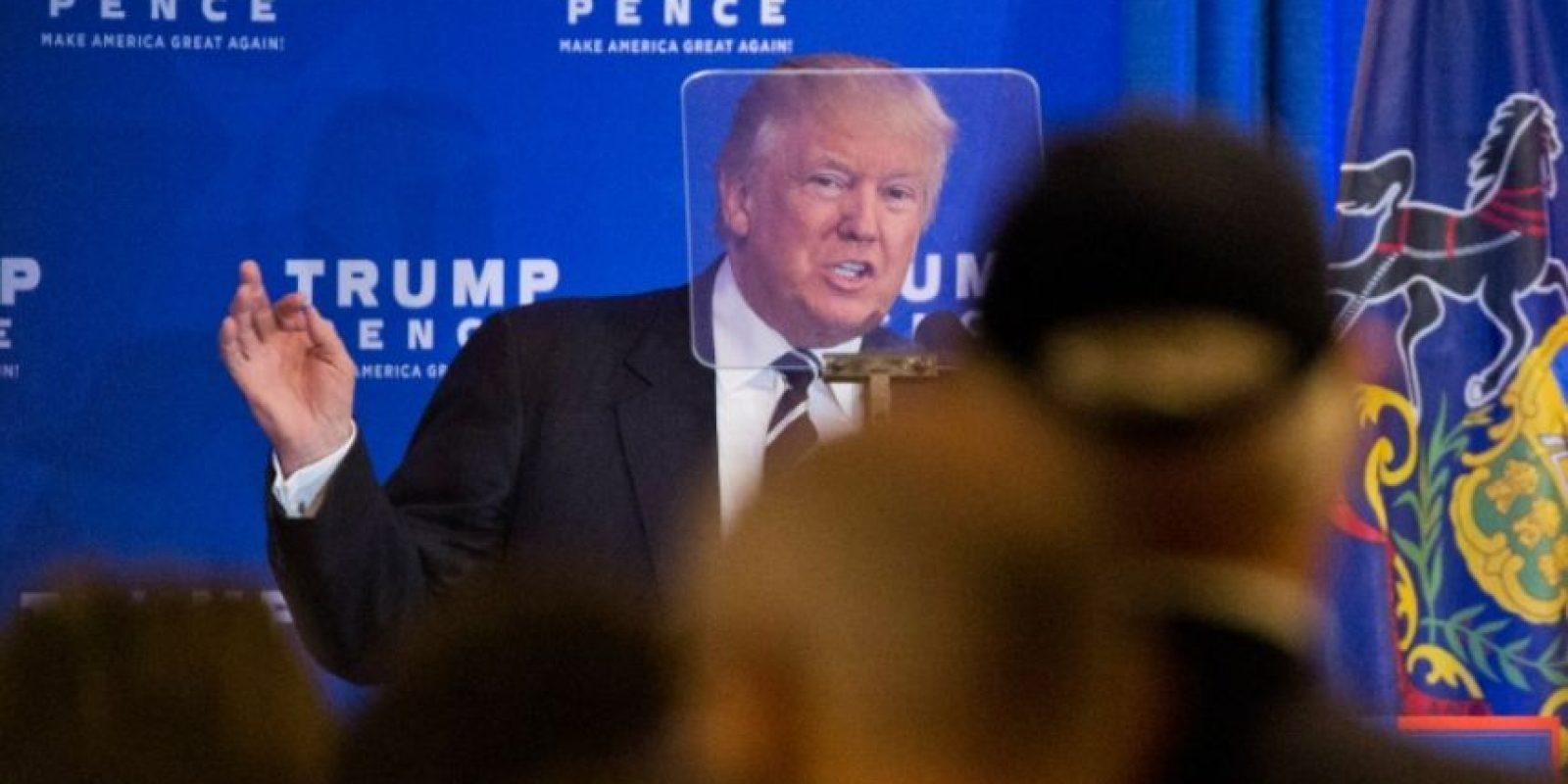 El candidato republicano a la presidencia de EEUU, Donald Trump, hace campaña en King of Prussia, Pensilvania, el 1 de noviembre de 2016 Foto:Dominick Reuter/afp.com