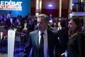 El exprimer ministro francés y candidato del partido Los Republicanos (LR) en las primarias de la derecha para las elecciones presidenciales de 2017, Nicolas Sarkozy, en el segundo debate, en París, el 3 de noviembre de 2016 Foto:Eric Feferberg/afp.com